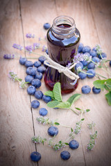 Healthy juice made with organic blueberry - blueberry juice