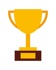 trophy gold isolated icon design