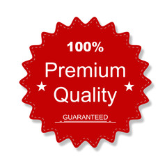 Premium Quality Sticker red colored with shadow
