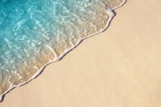 Soft wave of sea on the sandy beach