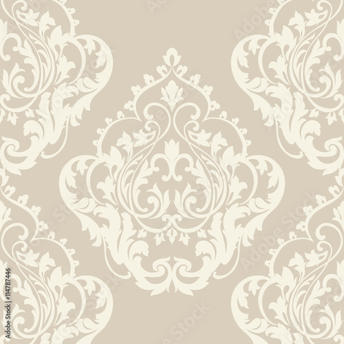 quotvector baroque vintage floral damask pattern luxury