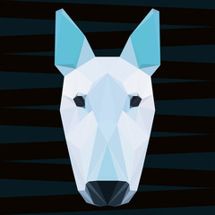 Abstract polygonal geometric pit bull terrier portrait