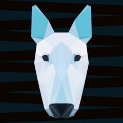 Abstract polygonal geometric pit bull terrier portrait