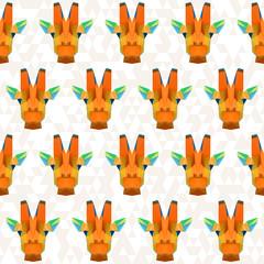 Abstract geometric polygonal giraffe seamless pattern background