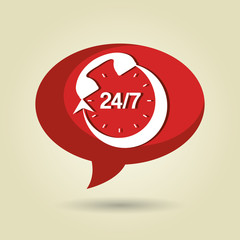 speech bubble with telephone isolated icon design, vector illustration  graphic