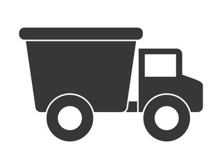 Baby toy truck isolated icon design