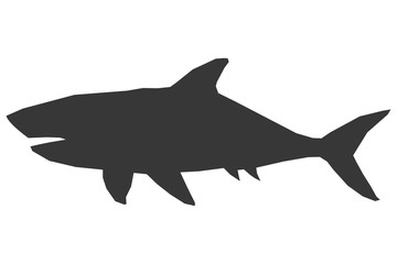 shark silhouette icon