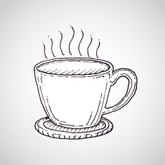 Coffee cup vector drawing