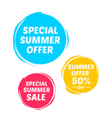 Special Summer Offer & Sale Marks