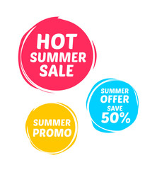 Hot Summer Sale & Promo Marks