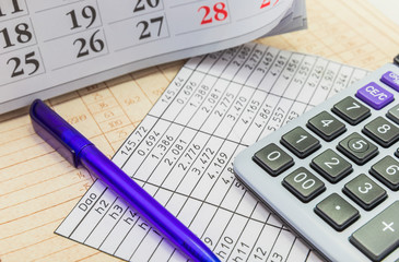 Pens, calendars and calculator