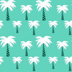 palm tree seamless vector pattern background illustration