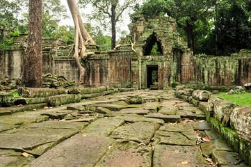 Ancient ruins in Angkor, Cambodia