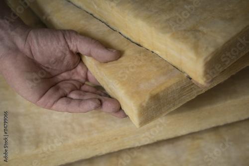 Isolant thermique et phonique panneaux de laine de verre stock photo and royalty free images - Laine de verre phonique ...