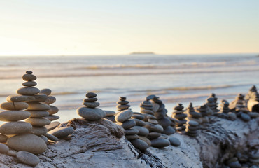 Multiple small cairns