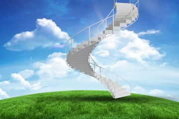 Composite image of image of isolated stairs