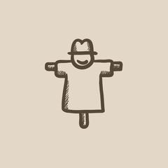 Scarecrow sketch icon.
