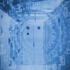 Composite image of bright futuristic binary code spiral
