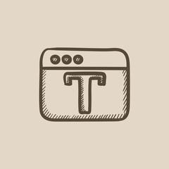 Design editor tool sketch icon.