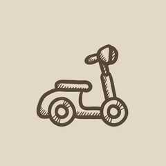Scooter sketch icon.