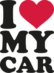 Fototapete - I love my car
