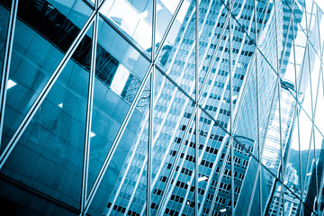 Modern Commercial Buildings close up