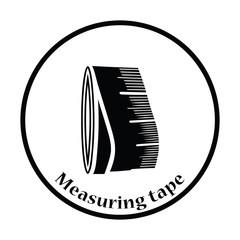 Tailor measure tape icon