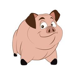 cartoon style pig icon