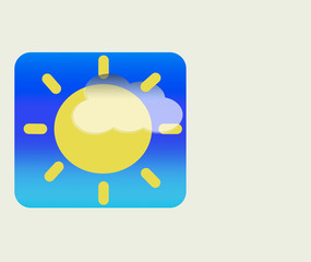 weatherIcon with cloud and sun