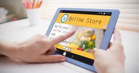 Composite image of screen of an online store