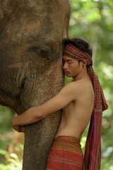 Love between human and elephant