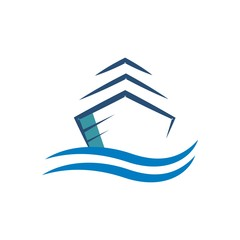 Logo Yacht transportation sailboat