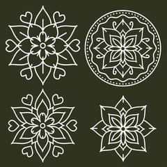 Kolam style elements
