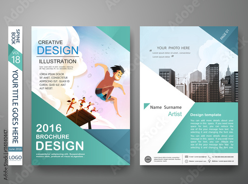 Book Cover Design Job Description : Quot brochure design template vector business flyers cover