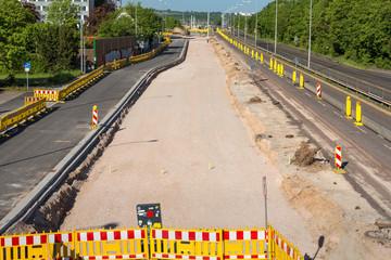 Baustelle neue Straße