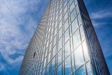 Hochhaus mit Spiegelung Perspektive
