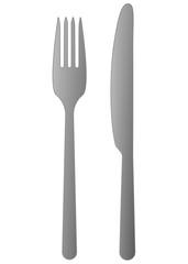Messer und Gabel Silber