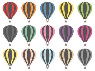 Hot Air Balloons Digital Clipart Vector Graphics