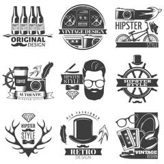 Hipster Emblem Set