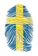 Swiss flag finger print