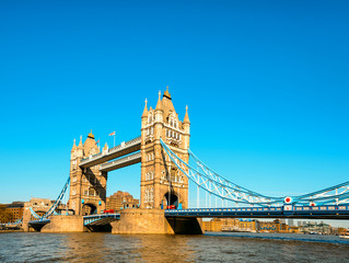 Wall Mural - Tower Bridge in London in the late afternoon