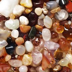 Square image of semi precious gemstones