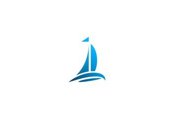 sail boat ocean logo