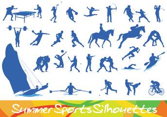 Sport Silhouetten - Ebenen einzeln gruppiert und beschriftet | layers grouped seperately and labeled