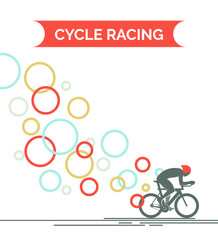 Bicycle race. Flat style vector illustrations