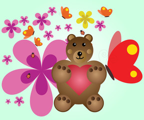 Bear illustration design, vector