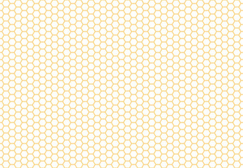 Honeycomb seamless background. Simple seamless pattern of bees' honeycomb. Illustration. Vector. Geometric print.