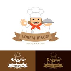 Chef with ok hand symbol icon
