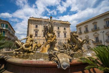 Fontana di Diana in Piazza Archimede, Siracusa, Sicily, Italy