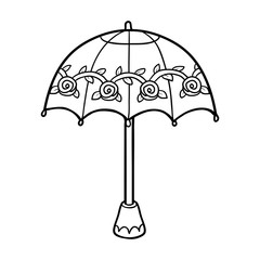 Coloring book for children, umbrella
